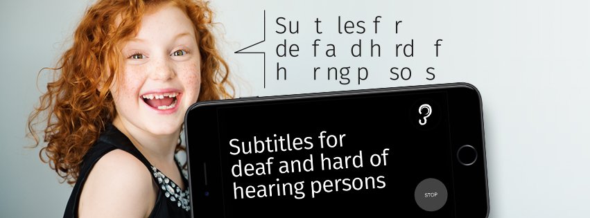 Earfy app - live captions for deaf and hard of hearing persons